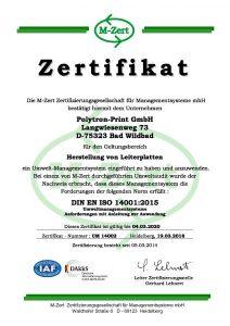 2018_Polytron-Print GmbH Urkunde Z3 UM