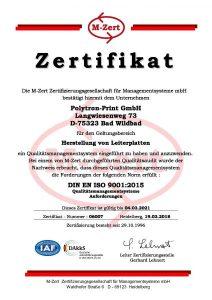 2018_Polytron-Print GmbH Urkunde Z7 QM