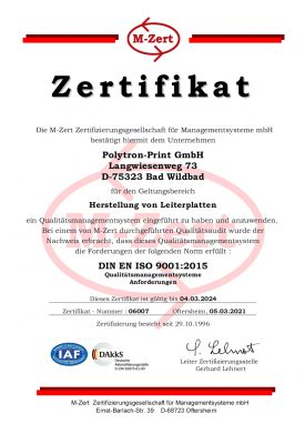 Zertifikat-Qualitaetsmanagementsystem Bis 2024